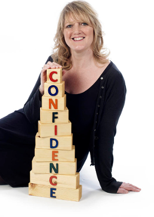 Debbie Kinghorn photo with confidence building blocks